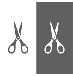 scissors icon on dark and white background vector image