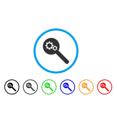 search gears tool rounded icon vector image