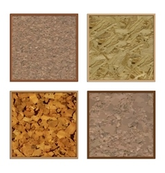 Set boards of cork vector