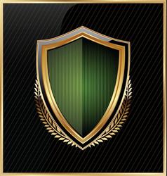 Shield and laurel wreath 5 vector