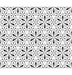 simple floral geometric seamless pattern vector image