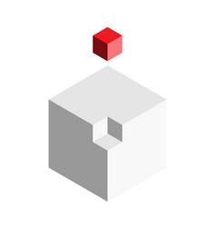 solution design element concept block of 3d cubes vector image