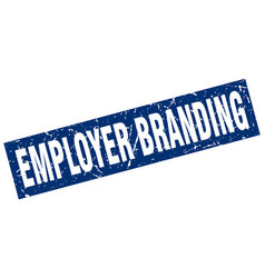 Square grunge blue employer branding stamp vector