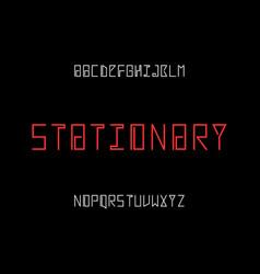 Stationary font alphabet vector