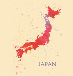 stylized map of japan vector image