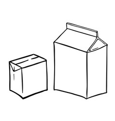 Two paperboard boxs vector