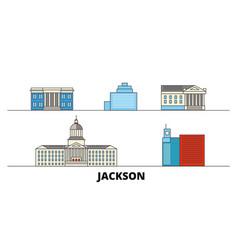 United states jackson flat landmarks vector