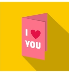 Valentines day card icon flat style vector