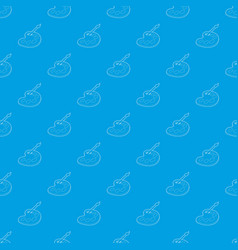 watercolor and brush pattern seamless blue vector image