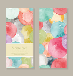 Watercolor greeting card vector