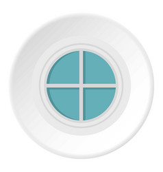 White round window icon circle vector