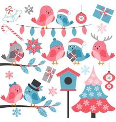Winter Birds vector