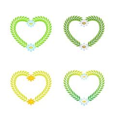 wreath as a heart vector image
