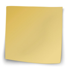 yellow sticky note with turned up corners vector image