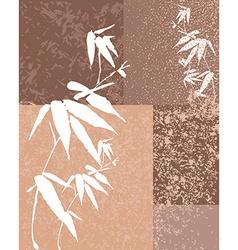 Zen bamboo vintage background vector image