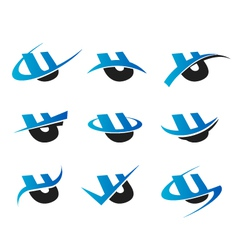 Alphabet U Logo Icons vector image