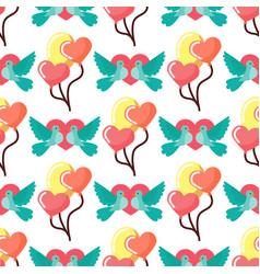 Dove birds seamless pattern background birdie vector