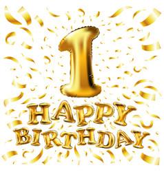 Happy birthday one first maiden top premier vector
