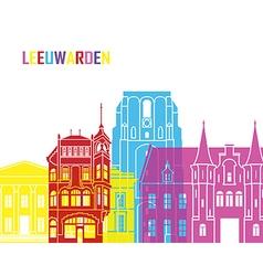 Leeuwarden skyline pop vector image