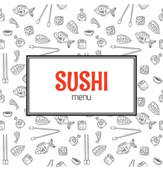 Restaurant sushi menu design Menu template with vector image