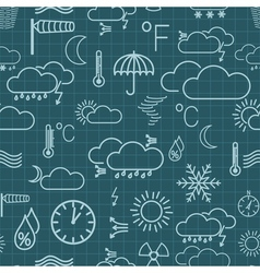 Seamless pattern of weather symbols vector image