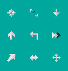 Set of simple indicator icons elements arrow vector