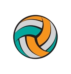 Volleyball flat symbol vector image vector image