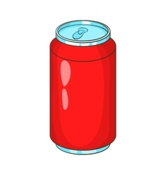 Aluminum beverage bank icon cartoon style vector image