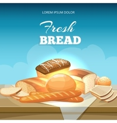 Bread concept background Bakery poster vector image vector image