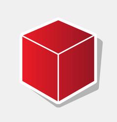 cube sign new year reddish vector image