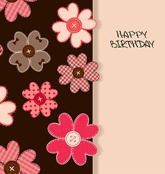 Holiday card or invitation with flower patchworks vector image vector image