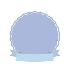 label decoration ribbon ornament vector image