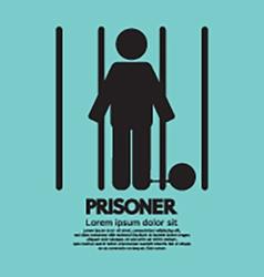 Prisoner In Jail Symbol vector image vector image