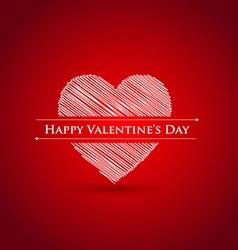 scribble heart Happy Valentines day vector image vector image