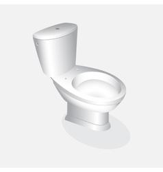 toilet bowl realistic vector image