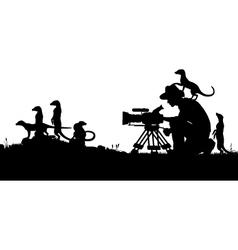 Wildlife cameraman vector image vector image