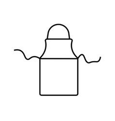 apron icon vector image