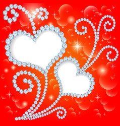 background with stars and hearts vector image