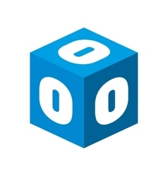 cube number block graphic vector image