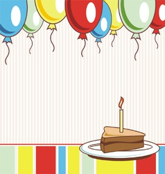 image holiday birthday cake vector image vector image