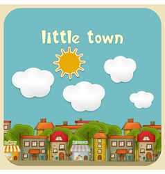 Little Town Color Houses vector image vector image
