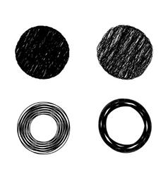 scribble circles vector image