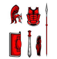 set of armour vector image