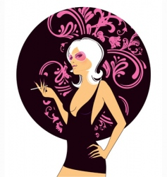 sexy pink women vector image