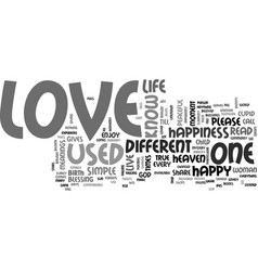 when cupid hits text word cloud concept vector image