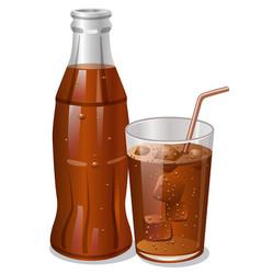 cold cola drink vector image