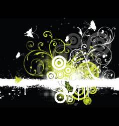 floral grunge butterflies vector image vector image