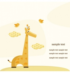 giraffe background vector image vector image