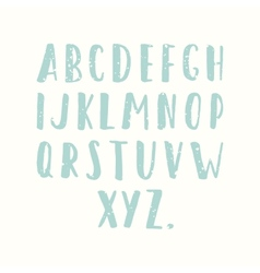 Hand drawn old textured font vector image