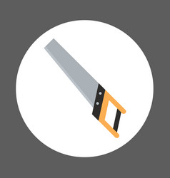 handle saw icon working hand tool equipment vector image